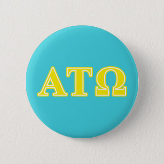 Alpha Tau Omega Yellow Letters Pinback Button