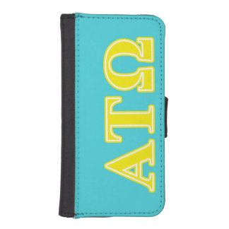 Alpha Tau Omega Yellow Letters iPhone 5 Wallet Case