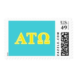 Alpha Tau Omega Yellow Letters Postage