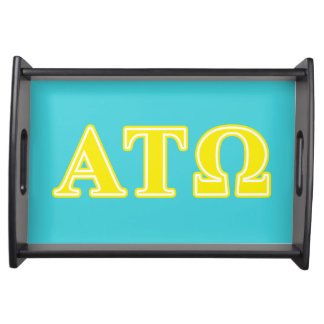 Alpha Tau Omega Yellow Letters Service Trays