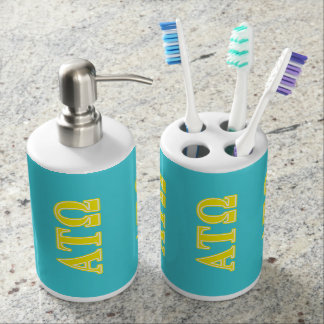 Alpha Tau Omega Yellow Letters Soap Dispensers