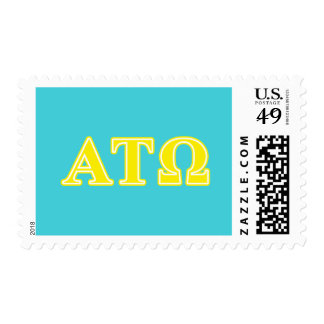 Alpha Tau Omega Yellow Letters Stamp