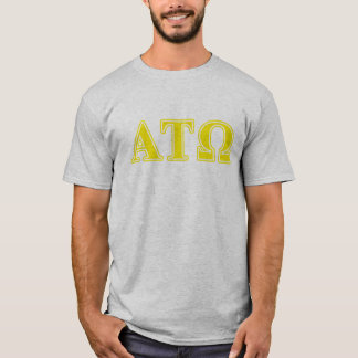 Alpha Tau Omega Yellow Letters T-Shirt