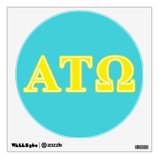 Alpha Tau Omega Yellow Letters Wall Decal