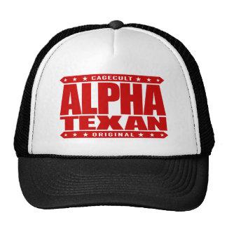ALPHA TEXAN - Conservative Lone Star Pride, Red Trucker Hat