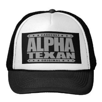 ALPHA TEXAN - Conservative Lone Star Pride, Silver Trucker Hat