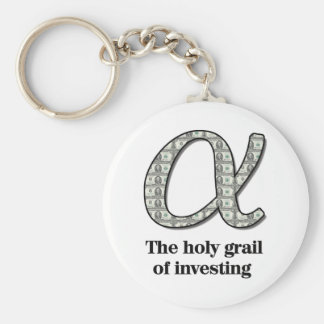 Alpha  - The holy grail of investing Key Chain
