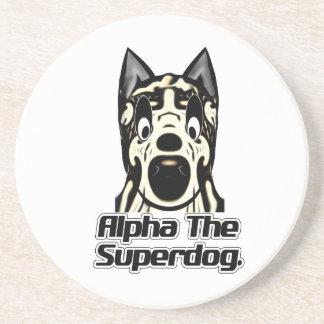 Alpha the Superdog Gifts Sandstone Coaster