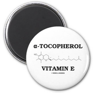 alpha-Tocopherol Vitamin E (Chemical Molecule) 2 Inch Round Magnet