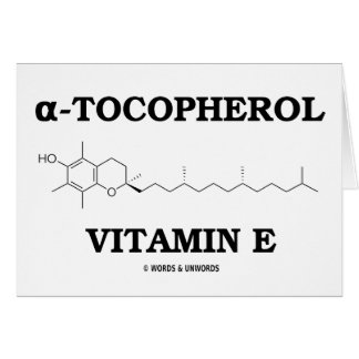 alpha-Tocopherol Vitamin E (Chemical Molecule) Greeting Card