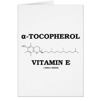 alpha-Tocopherol Vitamin E (Chemical Molecule) Cards