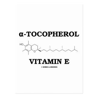 alpha-Tocopherol Vitamin E (Chemical Molecule) Postcard