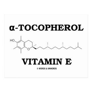 alpha-Tocopherol Vitamin E (Chemical Molecule) Post Card