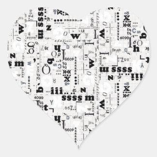 Alpha Type Heart Sticker