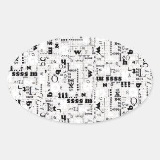 Alpha Type Oval Sticker