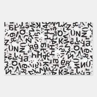 Alpha Type Rectangular Sticker