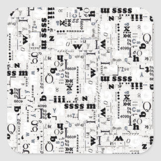Alpha Type Square Sticker