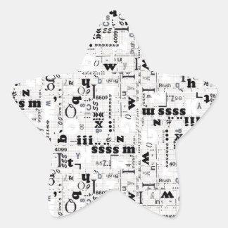 Alpha Type Star Sticker
