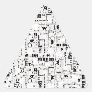 Alpha Type Triangle Sticker