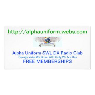 Alpha Uniform Cards Photo Card