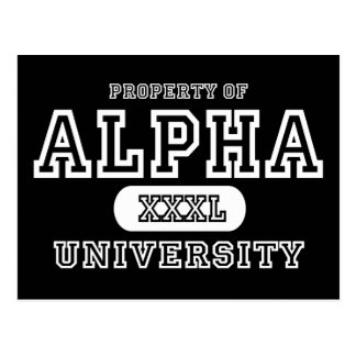 Alpha Univeristy Dark Postcard