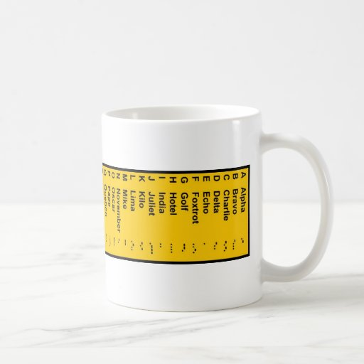 Alpha-Voice Morse Encoding Coffee Mugs