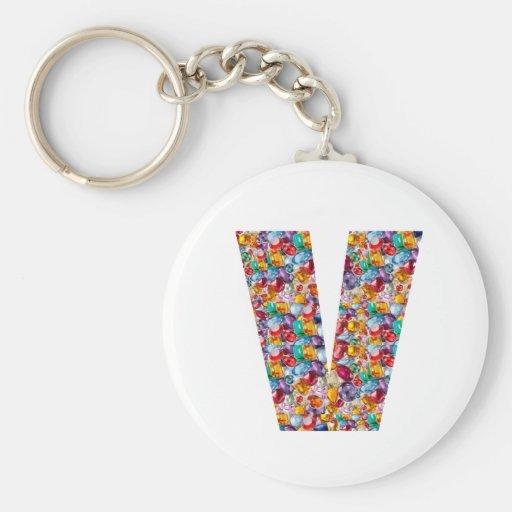 Alpha VVV PPP RRR QQQ Fashion GIFTS Jewel FUN ID Keychains