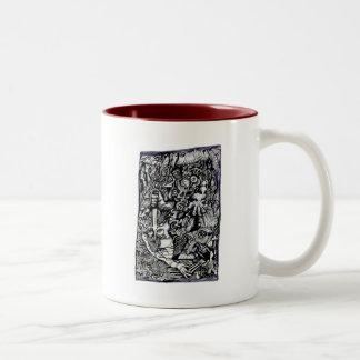 Alpha Warrior, by Brian Benson.  A4 Ink drawing fr Two-Tone Coffee Mug