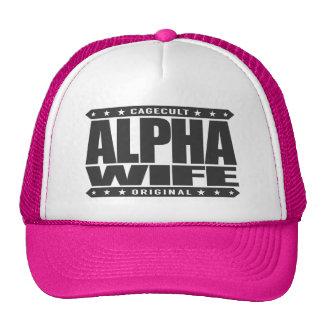 ALPHA WIFE - Faithful To My Yoga Teacher, Black Trucker Hat
