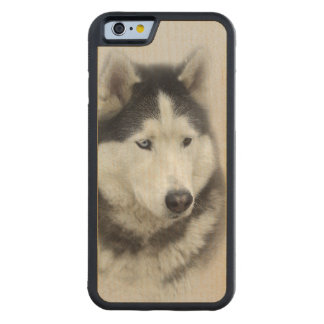 Alpha - Wolf Hybrid Carved Maple iPhone 6 Bumper Case