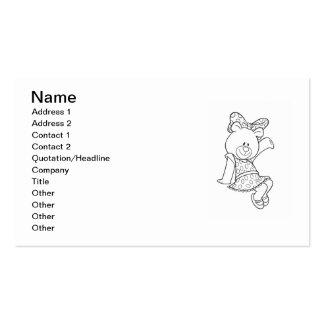 Alpha Xi Delta Bear Business Card