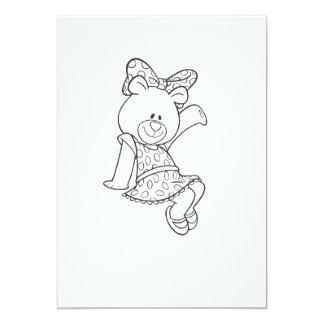 Alpha Xi Delta Bear Card