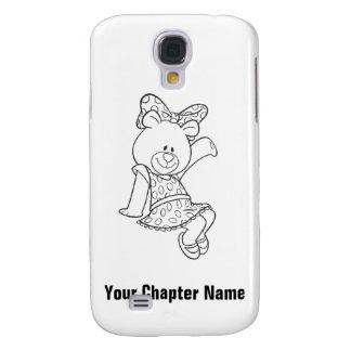 Alpha Xi Delta Bear Galaxy S4 Case