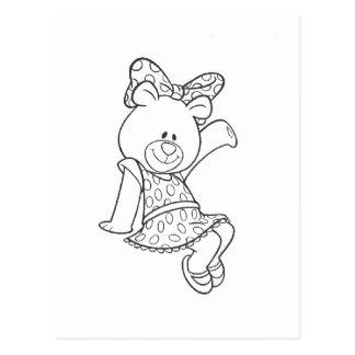 Alpha Xi Delta Bear Postcard