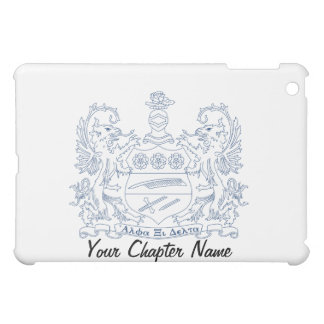 Alpha Xi Delta Crest Blue iPad Mini Cases