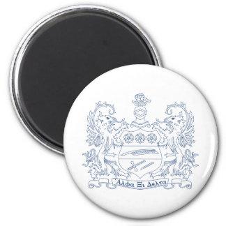 Alpha Xi Delta Crest Blue Magnet