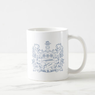 Alpha Xi Delta Crest Blue Classic White Coffee Mug