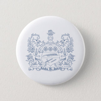 Alpha Xi Delta Crest Blue Pinback Button
