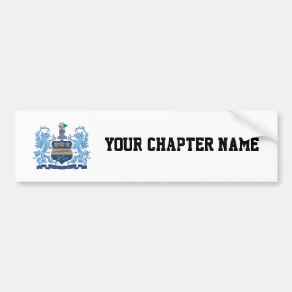 Alpha Xi Delta Crest Color Bumper Sticker