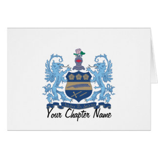 Alpha Xi Delta Crest Color Card