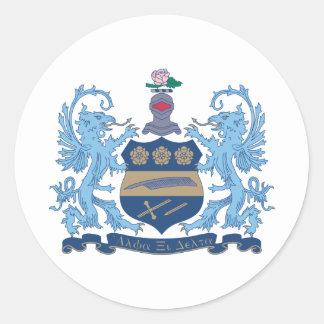 Alpha Xi Delta Crest Color Classic Round Sticker