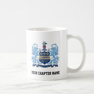 Alpha Xi Delta Crest Color Classic White Coffee Mug