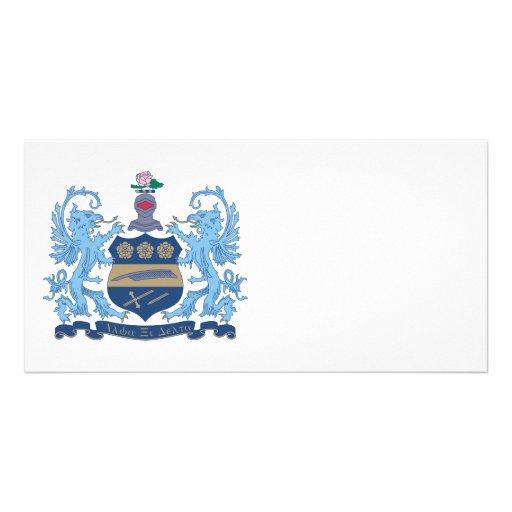 Alpha Xi Delta Crest Color Customized Photo Card