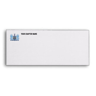 Alpha Xi Delta Crest Color Envelope