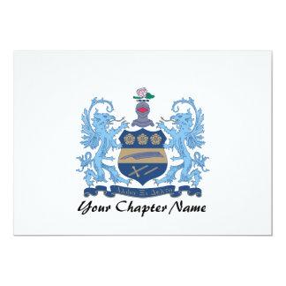 Alpha Xi Delta Crest Color Personalized Announcement
