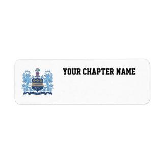 Alpha Xi Delta Crest Color Label