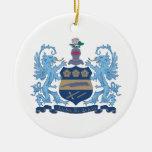 Alpha Xi Delta Crest Color Ornaments