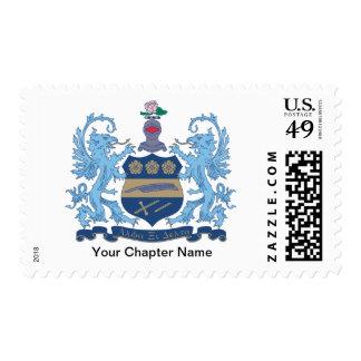 Alpha Xi Delta Crest Color Postage Stamp
