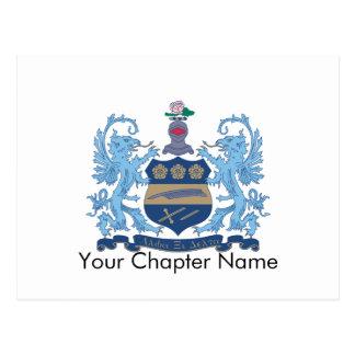 Alpha Xi Delta Crest Color Postcard