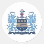 Alpha Xi Delta Crest Color Round Sticker
